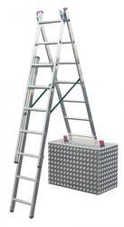 KRAUSE CORDA 3x7 fokos sokcélú létra lépcsőfunkcióval (013378)