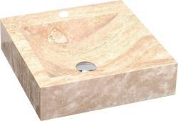 SAPHO Blok 4 mosdó, Travertin, matt, bézs 45x45x12 cm (2401-07)