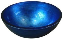SAPHO Murano üvegmosdó, kék 40x13 cm (AL5318-65)