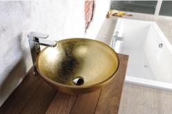 SAPHO Murano üvegmosdó, arany 40x13 cm (AL5318-51)