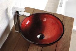 SAPHO Murano üvegmosdó, piros 40x13 cm (AL5318-63)