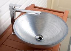 SAPHO Murano üvegmosdó, ezüst 40x13 cm (AL5318-68)
