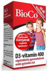 BioCo D3-Vitamin 400mg rágótabletta (60db)