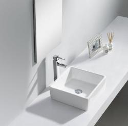 SAPHO Ubega mosdó, pultra szerelhető, túlfolyó nélkül 38x13.5x38 cm (BH7006)