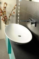 SAPHO Joker Dish mosdó, pultra szerelhető, túlfolyó nélkül 90x15x50 cm (29210301)