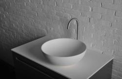 SAPHO Thin mosdó, pultra szerelhető, túlfolyó nélkül 39x14.5 cm (WN185)