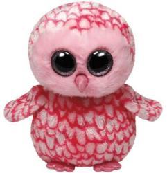 TY Inc Beanie Boos: Pinky - Baby bufnita roz 15cm (TY36094)