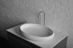 SAPHO Thin mosdó, pultra szerelhető, túlfolyó nélkül 60x40x11.2 cm (WN213)