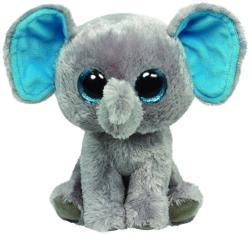 TY Inc Beanie Boos: Peanut - Baby elefant gri-albastru 15cm (TY36035)