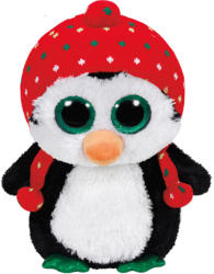TY Inc Beanie Boos: Freeze - Baby pinguin cu fes 24cm (TY36950)
