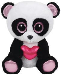 TY Inc Beanie Boos: Cutie Pie - Baby ursuletul panda cu inimioara 24cm (TY37049)