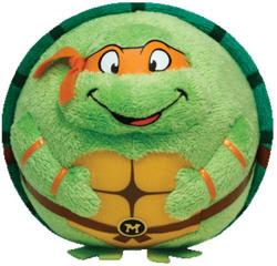TY Inc Beanie Ballz: Michelangelo TMNT 12cm (TY38256)