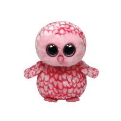 TY Inc Beanie Boos: Pinky - Baby bufnita roz 24cm (TY36994)