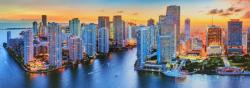 Trefl Panoráma puzzle - Miami naplementében 1000 db-os (29027)