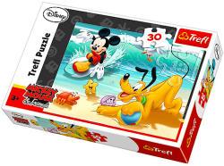 Trefl Mickey egér és Plútó a strandon 30 db-os (18207)