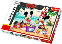 Trefl Maxi Puzzle - Mickey és Minnie egér piknikezik 24 db-os (14236)