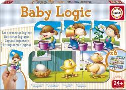 Educa Baby Logic - Oktató puzzle kicsiknek: Logika 18 db-os (15860)