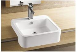 Sanotechnik Pultra építhető szögletes mosdó (K711)