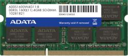ADATA 4GB DDR3 1600MHz ADDS1600W4G11-B