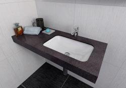 SAPHO Kama mosdó, túlfolyó nélkül (50134)