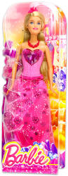 Mattel Barbie - Hercegnő baba - rózsaszín szívecskés ruhában (DHM53)