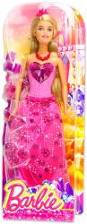 Mattel Barbie - Hercegnő baba - rózsaszín szívecskés ruhában