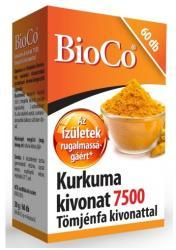 BioCo Kurkuma kivonat 7500 kapszula Tömjénfa kivonattal - 60 db