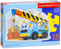 Castorland Vidám darus autó 15 db-os sziluett puzzle (B-015108)