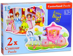 Castorland Hercegnők bálja 15 és 9 db-os sziluett puzzle (B-020034)