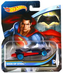 Mattel Hot Wheels - DC karakter kisautók - Man of Steel