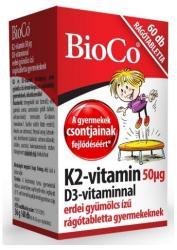 BioCo K2+D3-Vitamin rágótabletta gyerekeknek - 60 db