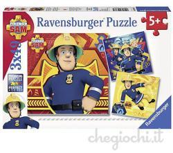 Ravensburger Sam, a tűzoltó 3x49 db-os (09386)