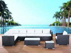 Beliani Rattan lounge párnákkal - XXL - 23db-os kerti bútor szett