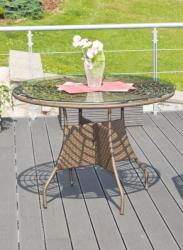 G21 Royal Big rattan asztal
