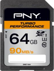 PNY SDXC Turbo Performance 64GB Class 10 SD64GTURPER90-EF