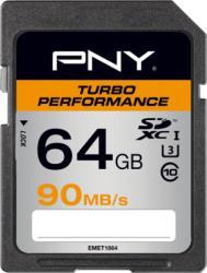 PNY SDXC Turbo Performance 64GB Class 10 SD64GTURPER90-EF