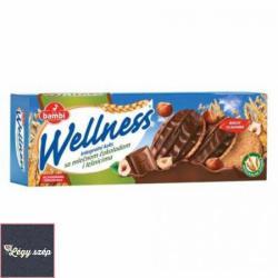 bambi Wellness Teljes Kiőrlésű Keksz Csoki Öntet És Mogyoró (205g)