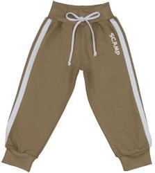Scamp Pantaloni trening cu banda lata in talie, bej-alb (NID274)