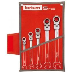 Fortum Racsnis/csuklós csillag-villáskulcs készlet 5db 8-19mm (4720201)