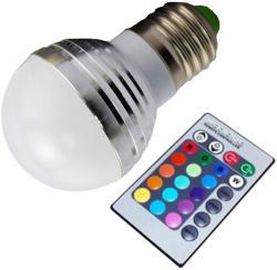 Life Light Led E27 3W 20-200lm LL3WKE27RGB