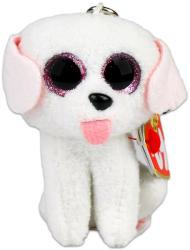 TY Inc Beanie Boos Clip - Pippie, a fehér kutya 8,5cm (TY35006)