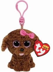TY Inc Beanie Boos Clip - Maddie, a barna kutyus 8,5cm (TY36618)