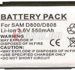 Utángyártott Samsung Li-Ion 550 mAh BST5268BEC