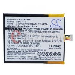 Utángyártott Acer LI-Polymer 3000 mAh BAT-P10