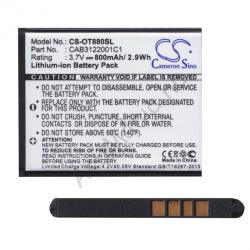 Utángyártott Alcatel LI-Ion 800 mAh CAB3120000C1