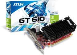 MSI GeForce GT 610 1GB PCIe (N610GT-1GD3H/LP)
