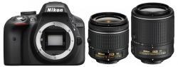 Nikon D3300 +AF-P 18-55mm VR +55-200mm VR
