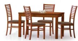 HALMAR Ernest bővíthető, fa étkezőasztal 120/160cm