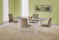 HALMAR Alston bővíthető, üveg étkezőasztal