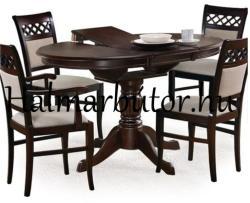 HALMAR William kerek étkezőasztal